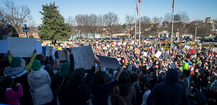 Little Rock protest against Muslim ban